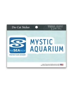 Mystic Aquarium Logo White letters Sticker Decal