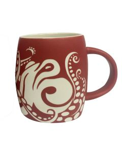 Octopus Barrel Etched Mug