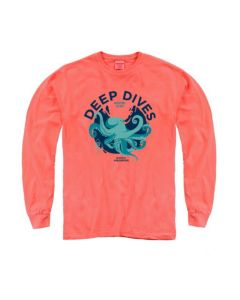 Adult  Octopus ''Deep Dives'' Long Sleeve Tee